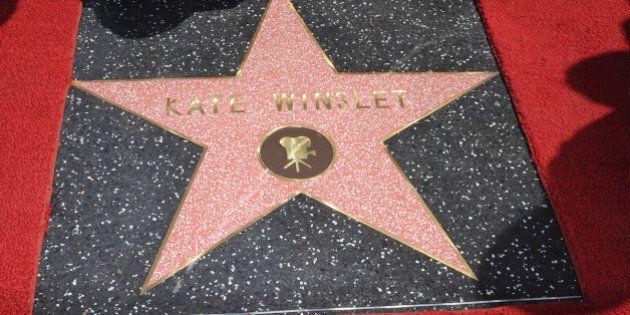 Kate Winslet ha la sua stella sulla Walk of Fame. E' la prima uscita pubblica dopo la nascita del figlio...