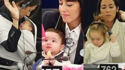 Vittoria, la bimba che cresce in Parlamento