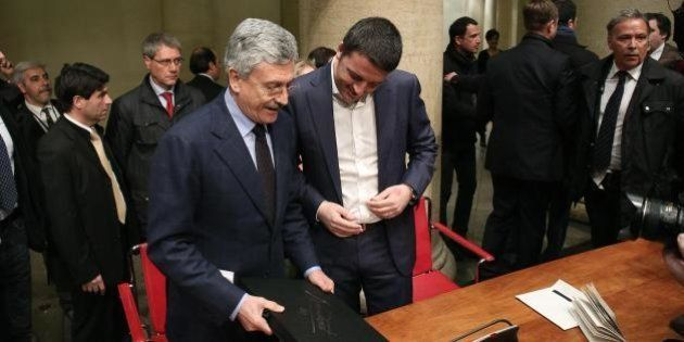 La Grande bellezza dalemiana accoglie Renzi con rispetto. E per una volta Matteo non twitta ma prende