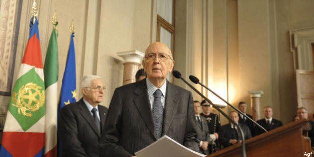 Quirinale 2013. Pressing di Pd, Pdl e Scelta Civica su Napolitano: resti per un bis. Colloquio con Bersani....