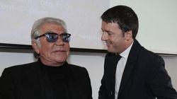 Renzi sempre più fashion: stavolta insieme a Roberto Cavalli