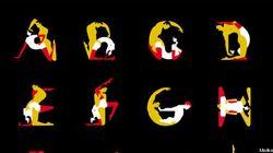 Alfabeto del Kamasutra, i 26 caratteri diventano posizioni per l'artista Malika Favre