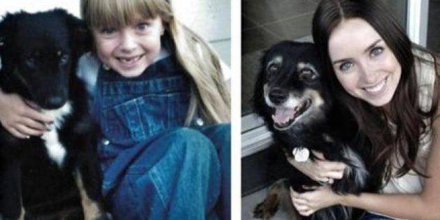Da bambini ad adulti con gli stessi cani: le foto prima e dopo