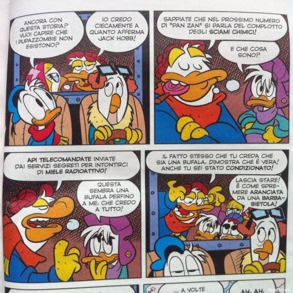 Scie Chimiche: il fumetto con Paperino che prende in giro le tesi