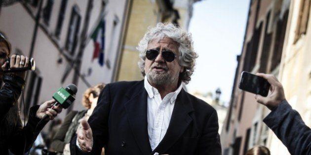 Beppe Grillo intervistato da Enrico Mentana a Bersaglio Mobile