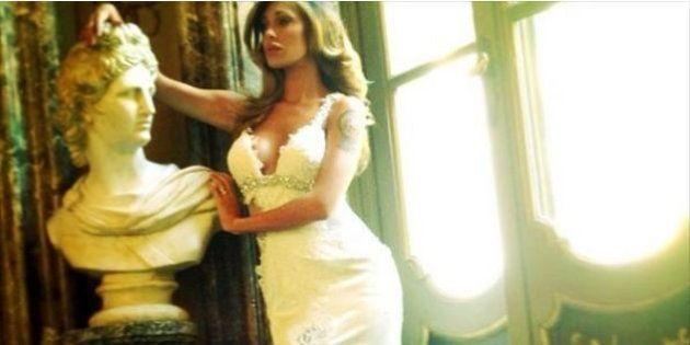 Belen Rodriguez, i particolari dell'abito da sposa rivelati dallo stilista Daniele Carlotta