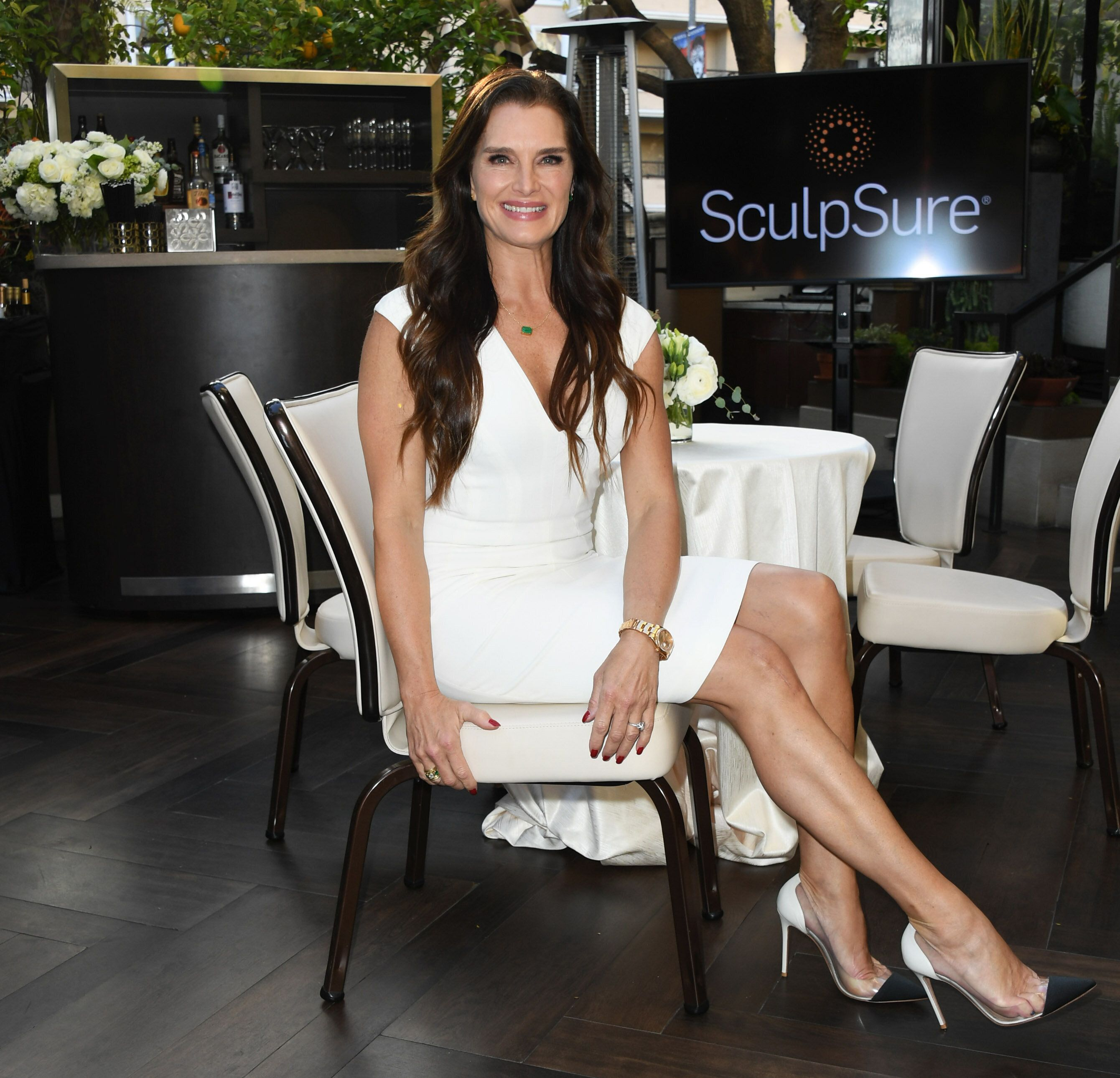 Brooke Shields works hard to look this good. (Photo: Jon Kopaloff/Getty Images)