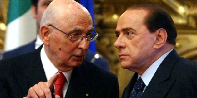Giorgio Napolitano e Mario Monti, Forza Italia: