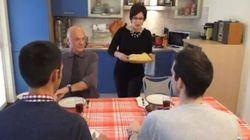 Pranzo di famiglia contro l'omofobia