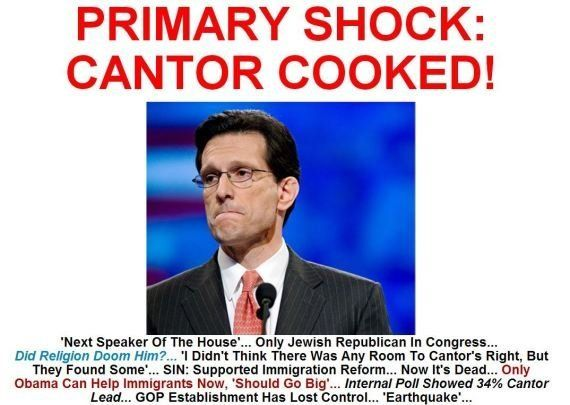 Virginia, leader repubblicano Eric Cantor perde le primarie contro candidato sconosciuto del Tea