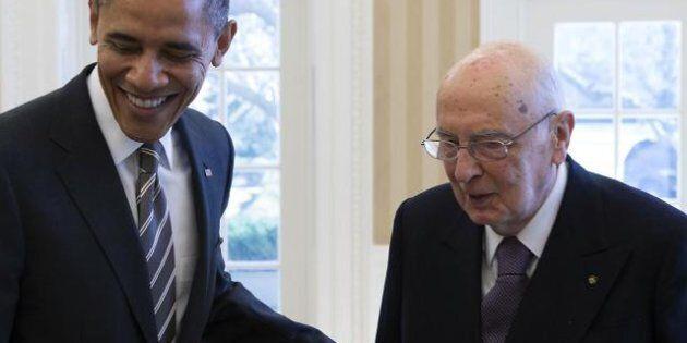 Napolitano dopo il colloquio con Obama: