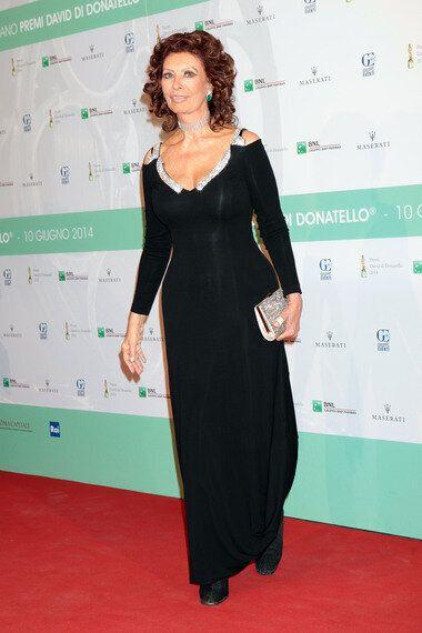 Sophia Loren, la grande bellezza ai David di