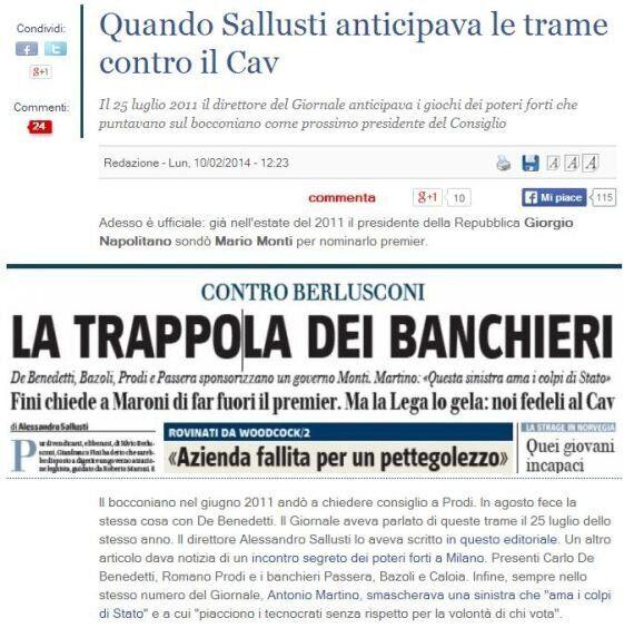 Mario Monti a Palazzo Chigi. Nell'agosto del 2011 i giornali parlavano già di