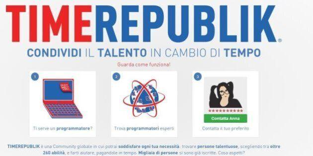 TimeRepublik: il nuovo social network per lo scambio di servizi. Ma la moneta è il