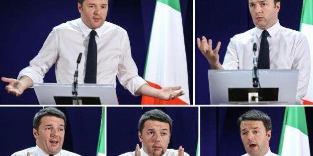 Matteo Renzi contro Giorgio Squinzi e Susanna Camusso: