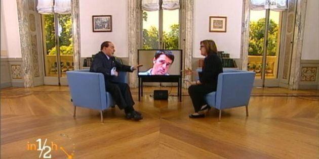 Silvio Berlusconi da Lucia Annunziata a in 1/2 h:
