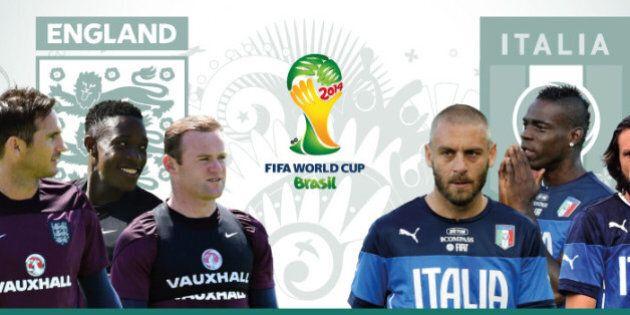 Italia Inghilterra 2-1 mondiali 2014, la partita (LIVEBLOG,