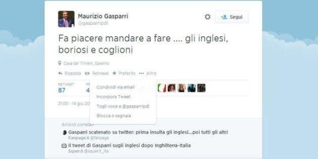 Mondiali 2014: Gasparri su Twitter contro gli inglesi: