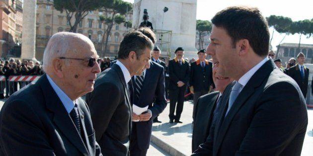 Riforme, Matteo Renzi ricevuto da Giorgio Napolitano: