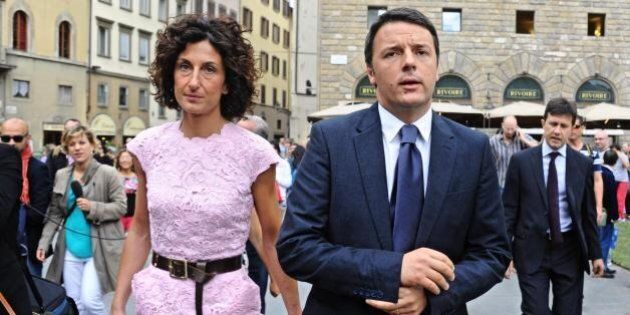 Agnese Renzi a Pitti Immagine Uomo 86 con un abito rosa. Matteo Renzi: