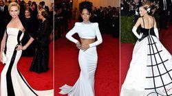 Bianco e nero e stile minimal sul red carpet del Met