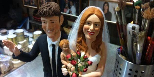 Belen Rodriguez e Stefano De Martino sposi, a San Gregorio Armeno un artigiano crea una statuetta per...