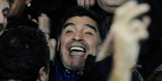 Diego Armando Maradona dopo Napoli-Roma: all'autogrill ordina un toast per tutti i tifosi presenti
