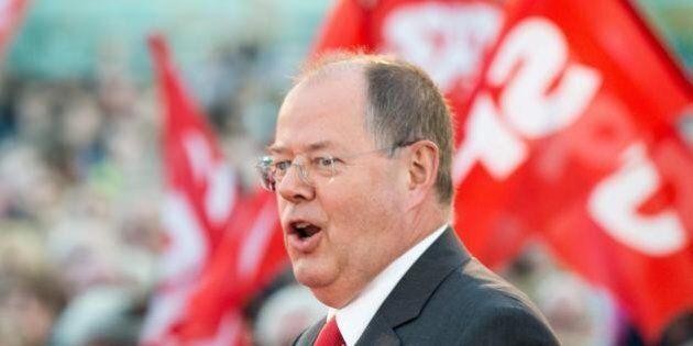 Elezioni tedesche 2013: dentro il comizio di Peer Steinbrück (SPD), lo