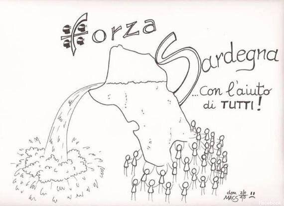 #ForzaSardegna. Dopo l'alluvione, il disegno di un Parroco sardo infonde speranza: