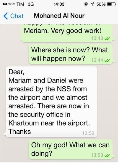 Meriam, la persecuzione continua. Arrestata all'aeroporto con il