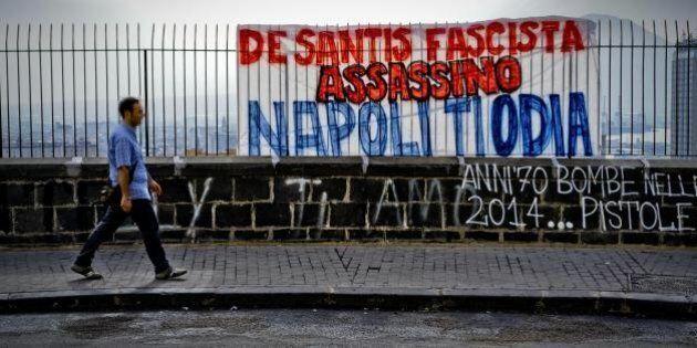 Ciro Esposito morto, a Napoli scritta contro Daniele De Santis