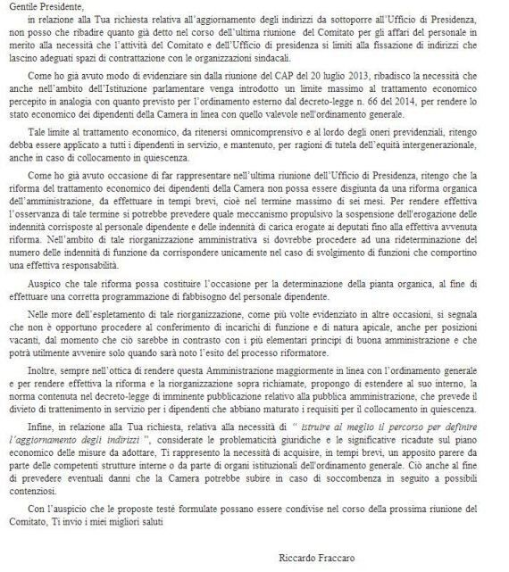 Riccardo Fraccaro (M5s): sei mesi per il tetto ai maxistipendi della Camera. Poi precisa: