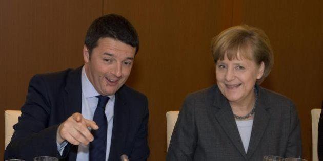Matteo Renzi nella tana della Merkel a caccia di investimenti e sostegno per il semestre di presidenza