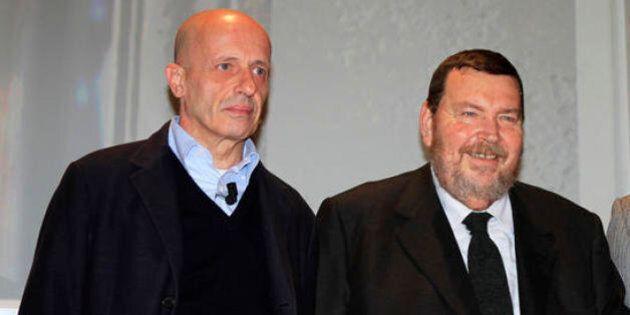Matteo Renzi, Alessandro Sallusti e Giuliano Ferrara con il segretario Pd: