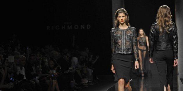 Fashion Week: Belen Rodriguez e Stafano De Martino alla sfilata di Richmond