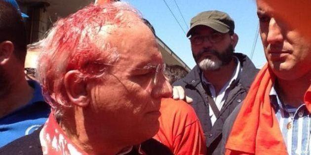 Leopoldo Di Girolamo sindaco di Terni manganellato alla manifestazione contro la Thyssen