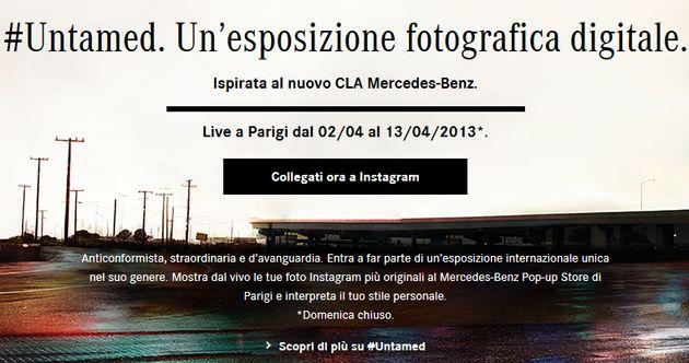 #Untamed, le tue foto Instagram in mostra nel cuore di Parigi. Mercedes Benz si pubblicizza con un concorso...
