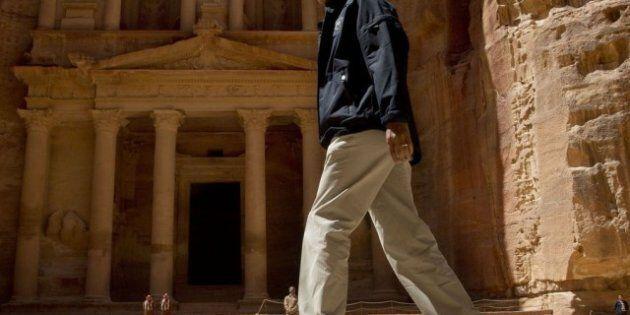 Barack Obama a Petra: spettacolare