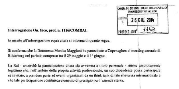 Monica Maggioni al Gruppo Bilderberg, la Rai replica a Roberto Fico: