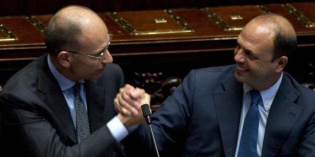 Il patto tra Enrico Letta e Angelino Alfano su legge di stabilità e decadenza: niente fiducia, ma il...