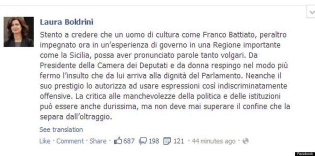 La frase shock di Franco Battiato: