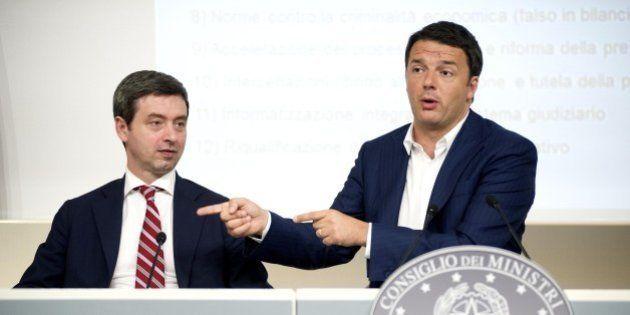 Giustizia, Matteo Renzi presenta i 12 titoli della riforma. Per i capitoli, a settembre, dopo la