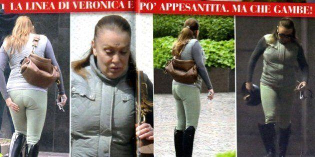 Veronica Lario appesantita e fuori forma.