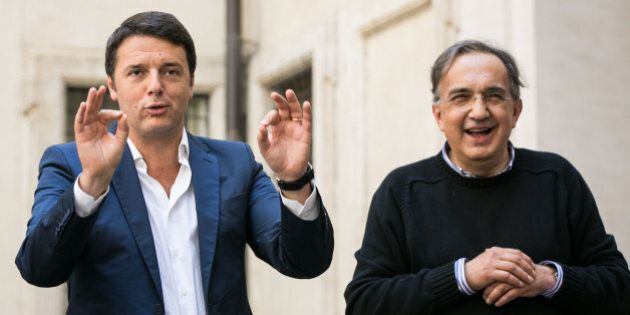Matteo Renzi da Sergio Marchionne:
