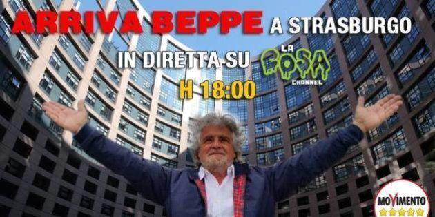 Beppe Grillo a Strasburgo: