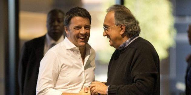 La coppia Matteo Renzi e Sergio Marchionne sfida i