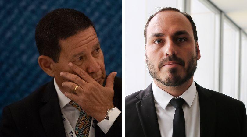 'Parece briga de bêbado de madrugada', diz líder do PSL sobre ataques de Carlos a
