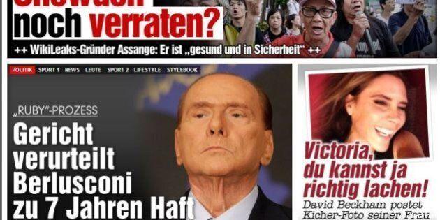 Silvio Berlusconi condannato: la sentenza Ruby sulle prime pagine dei giornali nazionali e internazionali