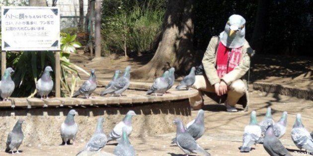 Google Street View: uomini piccione a Tokyo... e non solo