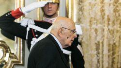 Napolitano saluta le alte cariche dello Stato (DIRETTA